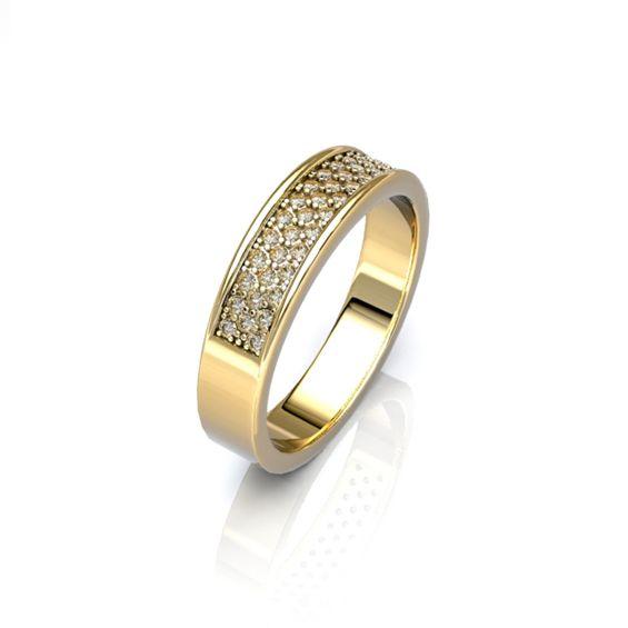Très Alliance en or jaune 18 carats pour femme L'ECLAT NS31